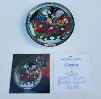 Bing & Grondahl Copenhagen Porcelain Santas Sleigh Collector's Plate 1990