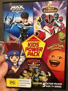 Kids Power Pack region 4 DVD (Power Rangers, The Annoying Orange, TMNT, more)