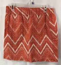 BANANA REPUBLIC Skirt Short Mini Womans Sz. 4 Burnt Orange White EUC