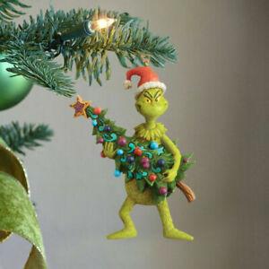 Christmas Grinch Embrace Christmas Tree & Love Home Ornaments PVC Action Figure