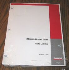 Case Ih Rbx463 Round Hay Baler Parts Catalog Manual 87346325 Issued 2005 New