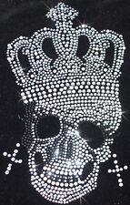 Hierro-en Calavera Corona Perla de cristal personalizado Camiseta transferencia