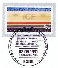BRD 1991: ICE-Start Nr 1530 mit sauberem Bonner Ersttags-Sonderstempel! 1A 1512