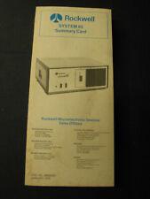 Rockwell System 65 Summary Card