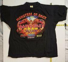 Iron Maiden  Vtg Monster of Rock  Donington  '92 show shirt .  Skid Row  SLAYER