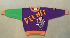 """1989 """"PEE-WEE HERMAN"""" TV PLAYHOUSE SWEATER - OFFICIAL PATCH & TAG SIZE M (10-12)"""