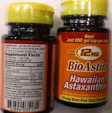 Lot of 2 (25 +25 ) 12mg Each cap  Nutrex BioAstin 50 gels Total