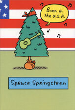 Spruce Springsteen Funny Humorous Nobleworks Christmas Card