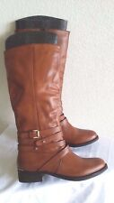 New Steve Madden albany cognac leather boots. Sz9.5. RT$169.