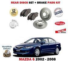 para MAZDA 6 1.8i 2.0i 2.3 2002-8/2008 NUEVO Juego freno disco trasero + kit