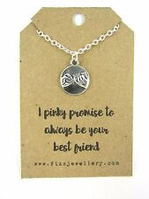 """I Pinky Promise to Always Be Your Best Friend"" Message Card Gift Necklace New"