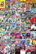 STUNNING MARVEL COMIC BOOK COLLAGE CANVAS SUPERHERO WALL ART CANVAS PICTURES