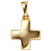 Anhänger Goldkreuz Kreuz aus 333 Gold Gelbgold glatt glänzend Goldanhänger