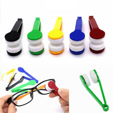 5x Sun Glasses Lens Eyeglass Cleaners Brush Microfiber Spectacles Cleaning Tools