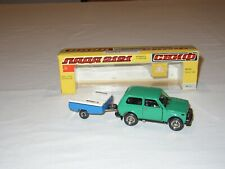 LADA NIVA 2121 con TRAILER - N. A20 - 1:43 - 1982 Rare Green M/N/MINT in O. Box