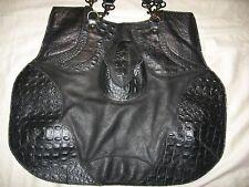 Handmade Leather Purse Papa and K Shoulder Bag Embossed Black  Boho Los Angeles