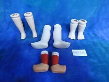 Vintage Bisque Doll Parts Baby Legs Painted Calves Clog Doll Repair PC76
