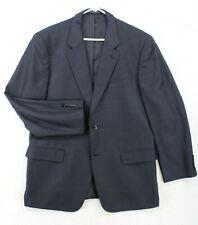 Vtg TAILORED Navy Blue Birdseye Blazer Sport Coat Suit Jacket Men's 44R