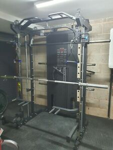 All-In-One Functional Trainer Smith Machine Power Rack Home Gym Compact Quality