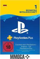 PlayStation Plus 1 Monat Mitgliedschaft - PSN PLUS Card 30 Tage Code - DE