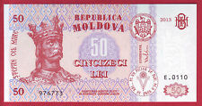 R* MOLDOVA BANKNOTE 50 LEI 2013 UNC CRISP