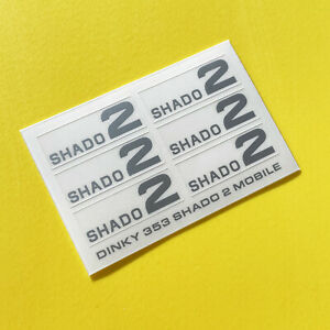 DINKY No. 353 U.F.O SHADO 2 MOBILE SILVER sticker decal reproductions