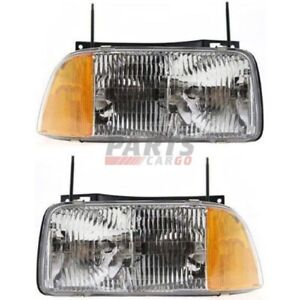 NEW HEAD LAMP ASSEMBLY LEFT & RIGHT FITS 1994-1997 GMC SONOMA 16525157 16525158
