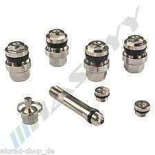 4x plata ocultos metal válvulas acero válvulas llantas válvulas llantas de aluminio 11,3mm