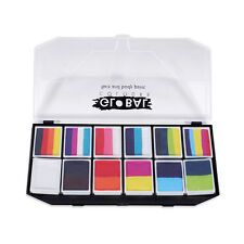Global 12 X 10g Carnival Palette - Rainbow Face Paint Kit Character Cosplay
