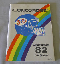Original CFL Montreal Concordes 1982 Official Football Media Guide