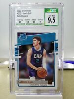 LaMelo Ball 2020-21 Donruss Rated Rookie CSG 9.5 with subgrades