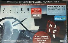 Alien Covenant 4K BLU RAY Ultimate Fan Gift Set Walmart Exclusive TSHIRT XL