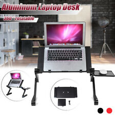 with 2 Cooling Fan 360° Adjustable Foldable Notebook Laptop Desk Bed Table Stand