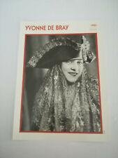 Yvonne de Bray - Fiche cinéma - Portraits de stars 13 cm x 18 cm