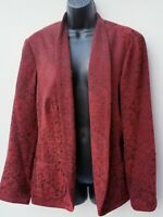 Coldwater Creek Womens Plus Size 1X Floral Tapestry Blazer