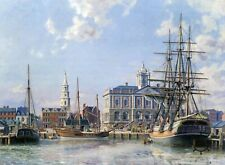 John Stobart Print - Charleston: Landing Cotton Alongside The Exchange c. 1820