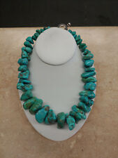 Stephen Dweck Chunky Turquoise Necklace & Sterling