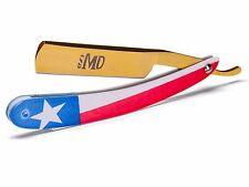 ~SHAVE READY~ MD Barber Straight Razor - Texas Flag - Gold Rush