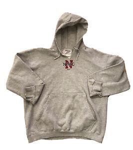 Vintage Nike Center Swoosh Hoodie Sweatshirt Mid Check Travis Scott  VTG 90s USA