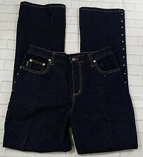 WATCH LA Jeans Silver Embellishment Down The Sides Blue Size 11/12 Womens