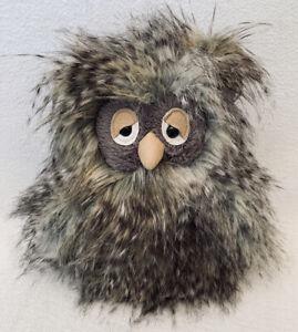 "JELLYCAT NWOT Orlando Owl Mad Pet Fuzzy Brown Gray 10"" Plush RETIRED"