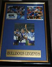 BULLDOGS LEGENDS~*~SGND & FRMD~*~ANDREW RYAN, HAZEM EL MASRI, LUKE PATTEN + COA