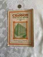 Channon Discount Catalog, 1926, Chicago, Hardware Company