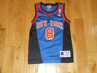Vintage 90s Champion LATRELL SPREWELL NEW YORK KNICKS Youth NBA Team JERSEY  Sm 8 916a2e498