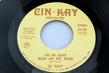 Al Bolt: I'm in Love With My Pet Rock / Paint Your World Happy  [Unplayed Copy]
