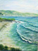 "Art16""/12""oil painting ocean view, California, seascape, landscape, california"