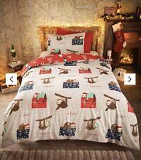 Sloth Christmas Duvet Cover Single Reversible Bedding Llama Duvet Cover