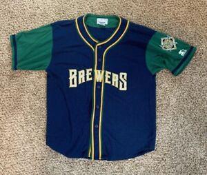 Milwaukee Brewers Starter Genuine Merchandise Jersey Vintage Size XL