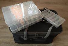 "Angeltasche ""Pro Carp"" faltbar; inkl. 3 Boxen aus klarem Kunststoff"
