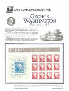 #514 60c George Washington Pacific 97 MS12 #3140 USPS Commemorative Stamp Panel